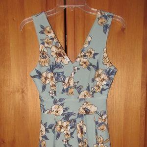 Floral Print Knee Length Dress